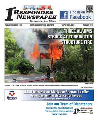 1st Responder News New England August Edition by Belsito