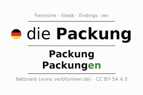 Declension Packung (pack, package
