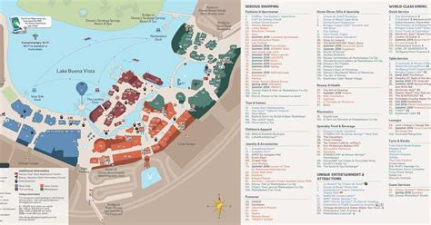 Disney Springs guide map with the Town Center - Photo 2 of 2