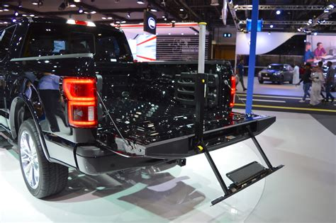 2018 Ford F-150 Limited tailgate step side view at 2017