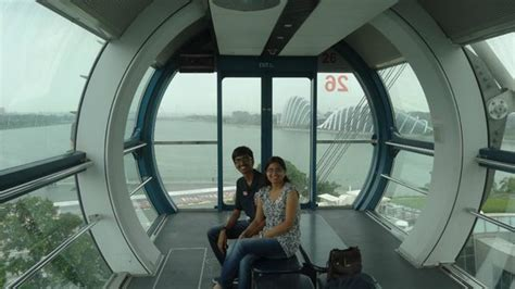 Family inside Capsule at Singapore Flyer - Picture of