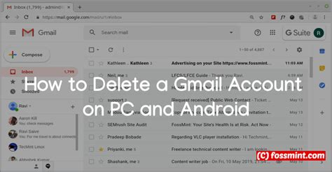 How to Delete a Gmail Account on PC and Android - LinuxAdminQA