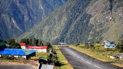 Take off from Lukla Airport, Nepal - YouTube