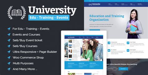 University - Education, Event and Course HTML Template by