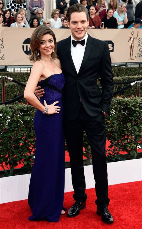 Sarah Hyland & Dominic Sherwood from Couples at the SAG