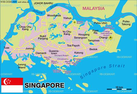 Map of Singapore (Country) | Welt-Atlas