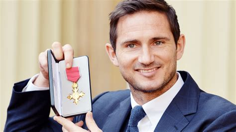 Former Chelsea star Frank Lampard receives OBE for
