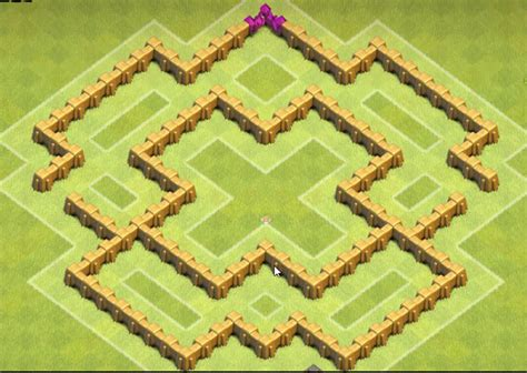 Clash Of Clans Base Design Town Hall Level 5 Defense