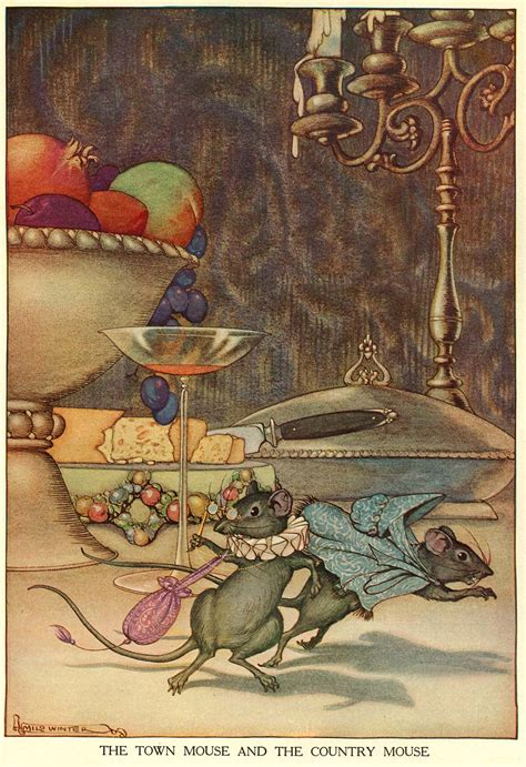Milo Winter Aesop's Fables - The Town Mouse and the