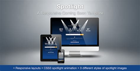 Spotlight - A Responsive Coming Soon Template by