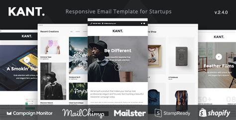 Kant - Responsive Email for Startups: 50+ Sections