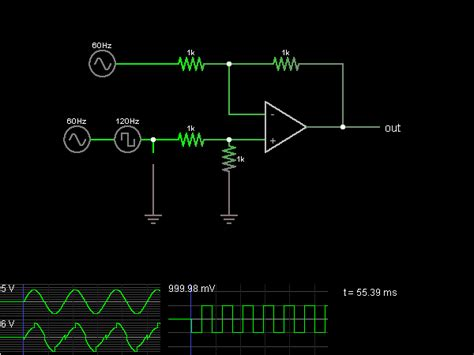 Differential Amplifier (with op-amps) - Circuit Simulator