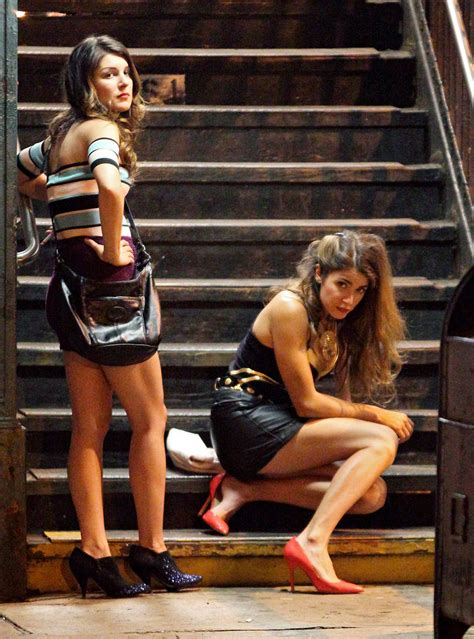 NIKKI REED and SHENAE GRIMES in Short Skirts on Empire